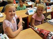 První školní den v radimské škole.
