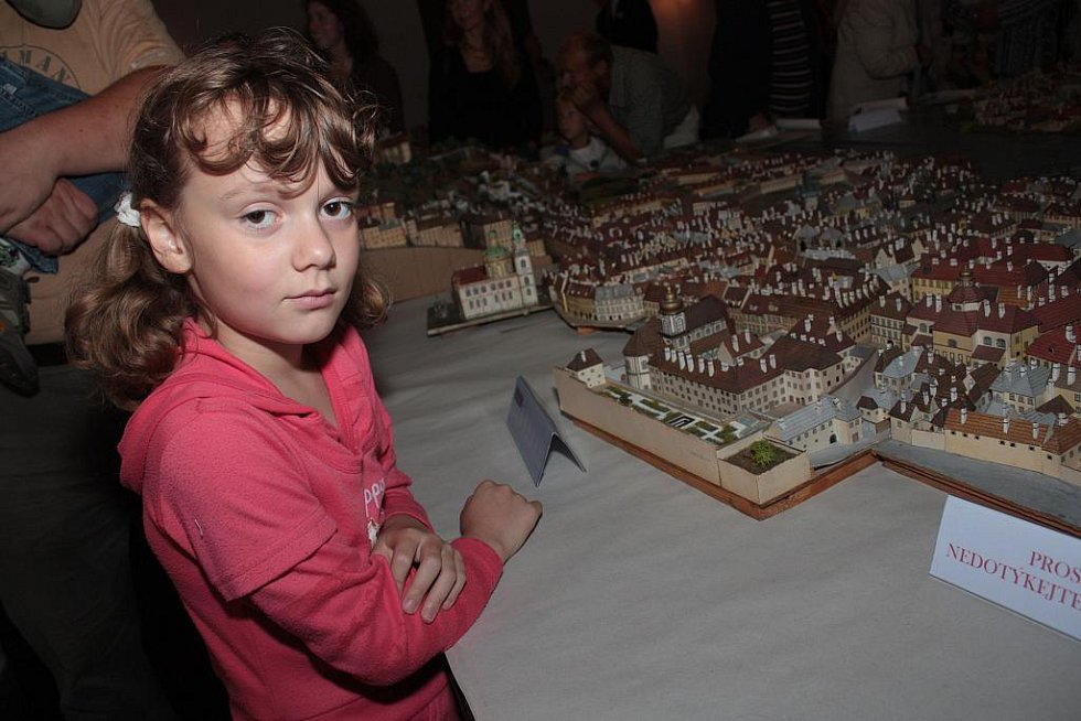 V Kostelci nad Černými lesy se vystavoval model Prahy
