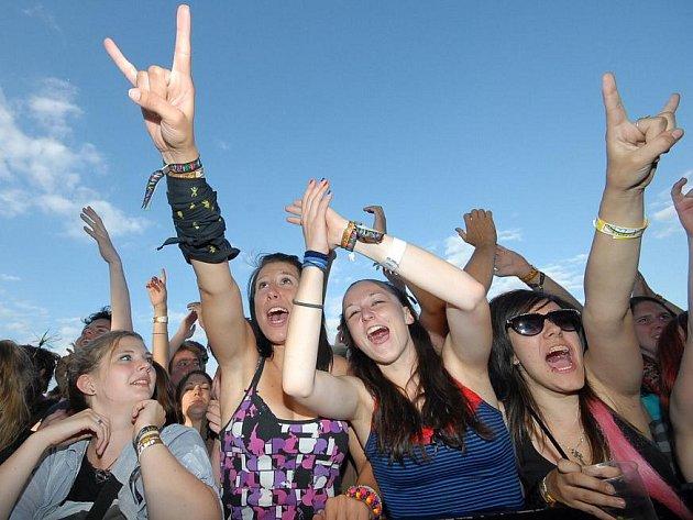 Festival Rock for People studené a deštivé počasí nezkazilo