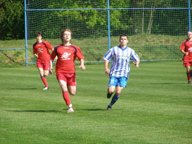Z utkání staršího dorostu FK Kolín - Pardubice B (3:1).