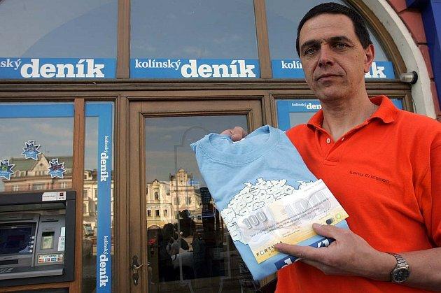 Jan Jeník z Kouřimi si za vítězství ve 4. kole z naší redakce odnesl tričko a sázkový kupon v hodnotě 100,–kč od Fortuny.