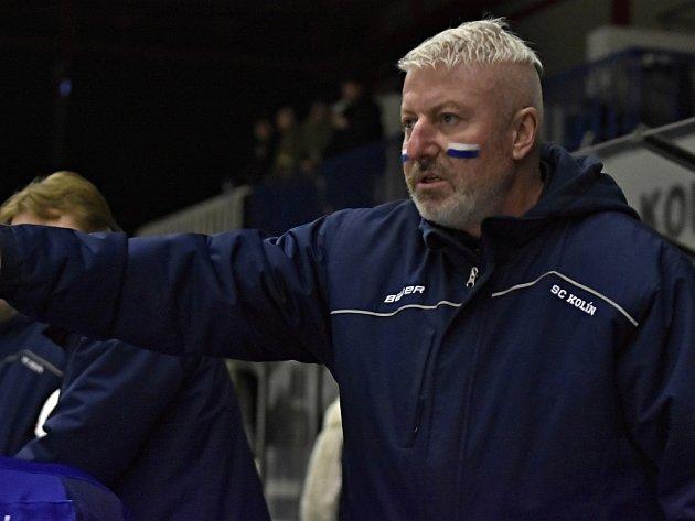 Trenér hokejistů Kolína Petr Martínek.