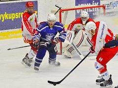 Hokejisté Kolína porazili Žďár nad Sázavou 3:2.