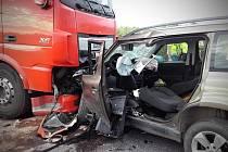 Tragická nehoda u Nové Vsi na Kolínsku.