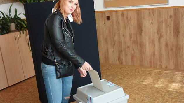 První den komunálních voleb v Kolíně v roce 2018.