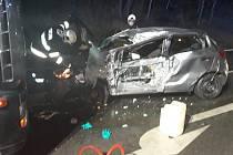 Dopravní nehoda u Jírovic.