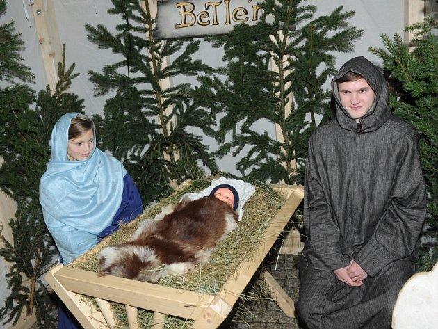Rozsvěcení vánočního stromu v Kolíně.