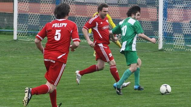 Z utkání Polepy - Zásmuky (3:0).