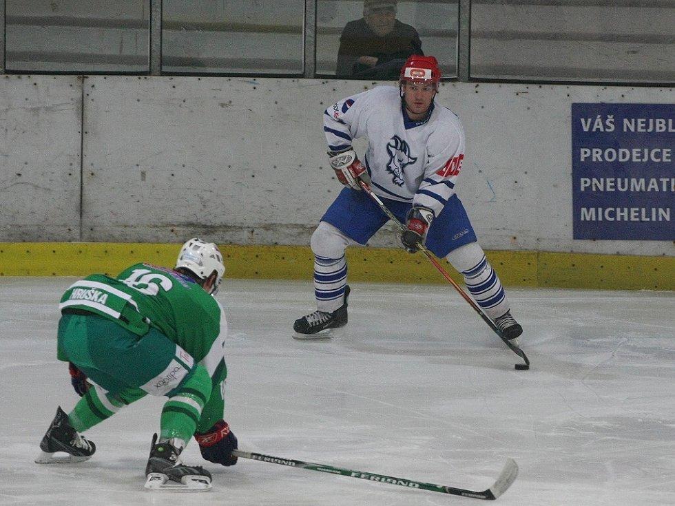 Z utkání druhé hokejové ligy Kolín - Trutnov (2:3 po prodloužení).