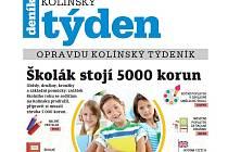 Titulní strana třicátého pátého čísla týdeníku Kolínský týden.