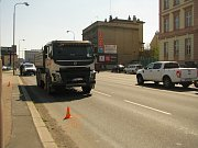 Dopravní nehoda v ulici U Křižovatky v Kolíně.
