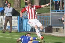Z utkání FK Kolín - Žižkov (0:4).