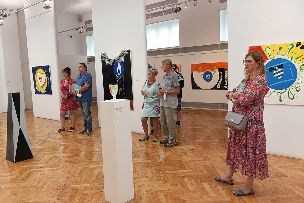 Vernisáž výstavy Ondřeje Kopala.