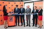 Ze slavnostního otevření budovy opraveného vlakového nádraží v Kolíně.