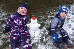Sněhuláček z Hradištka, 6. ledna 2021.