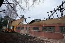 Začala demolice tribuny AFK Kolín