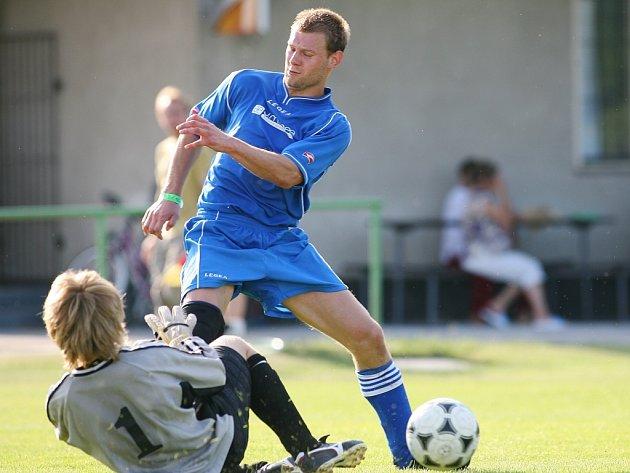 Z utkání Tři Dvory - Velký Osek (6:0).