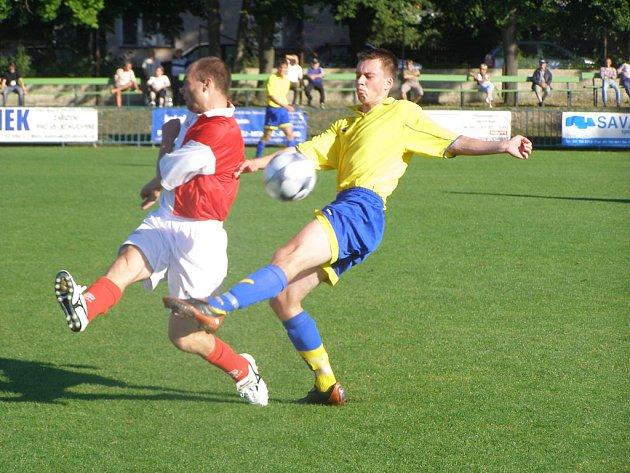 Z utkání Velim - AFK Chrudim (0:3).
