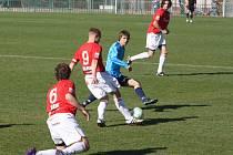 Z divizního utkání Velim - Převýšov (1:0).