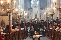 Chrám svatého Bartoloměje během Velikonočního koncertu 2019.