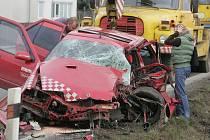 Vážná dopravní nehoda na výjezdu z Kolína směrem na Tři Dvory. 10.3. 2009