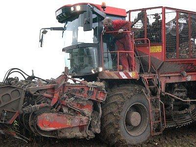 Důmyslné kombajny na sklizeň cukrové řepy zřejmě brzy ztratí využití.