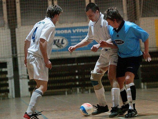 Z utkání druhé futsalové ligy SKP Kolín - Arsenal Benešov.