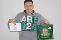 Lukáš Sýkora z Nebovid získal karton piv značky Rohozec a poukázku v hodnotě 100,-Kč do kolínské kavárny Kristián.