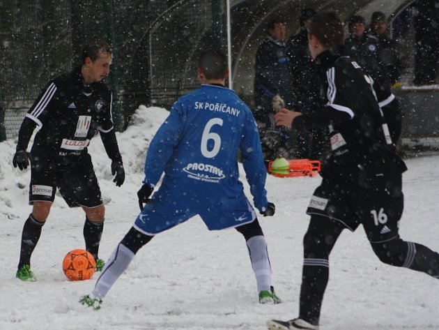 Přípravné utkání FK Kolín - Poříčany (5:1).