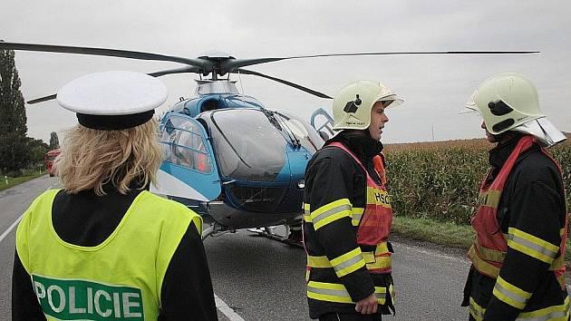 Nehoda na českobrodské silnici u odbočky na Velim