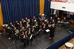 Z koncertu Městské hudby Františka Kmocha v Městském společenském domě v Kolíně.