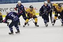 Z hokejového utkání Chance ligy Kolín - Jihlava (3:7)