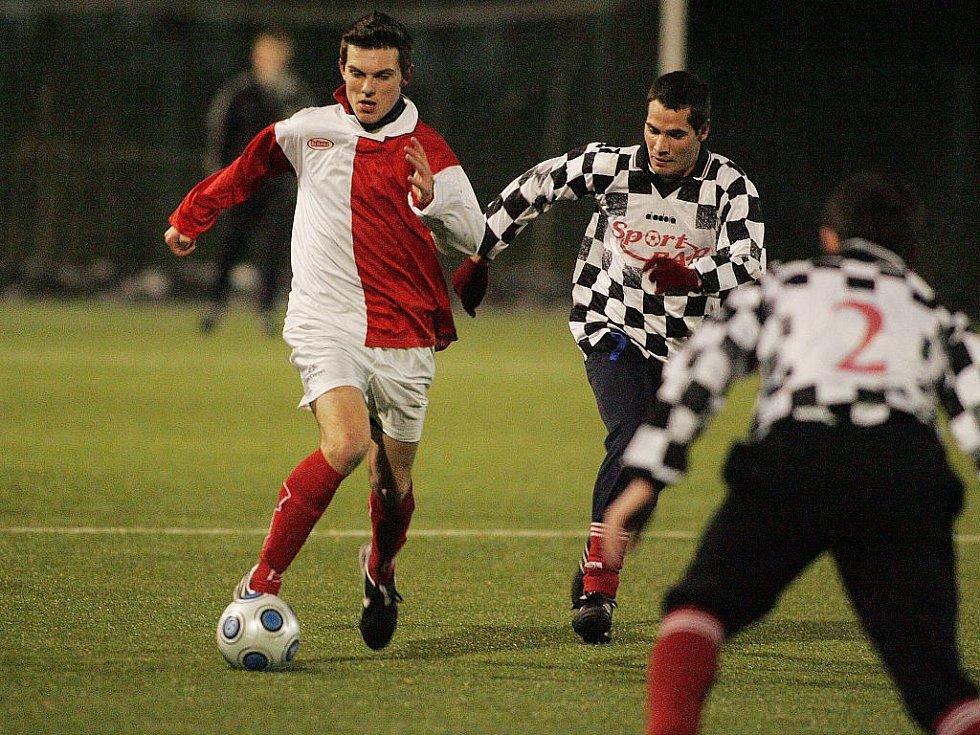 Z přípravného utkání Velim - Poděbrady (7:0).