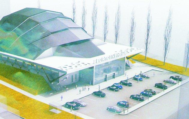 Původní studie velké sportovní haly uVodního světa vKolíně - rok 2008.