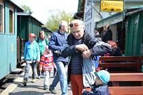 Návštěvníci si užili jízdu parním vlakem.