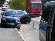 Dopravní nehoda, Jaselská ulice, Kolín 30.8.2011
