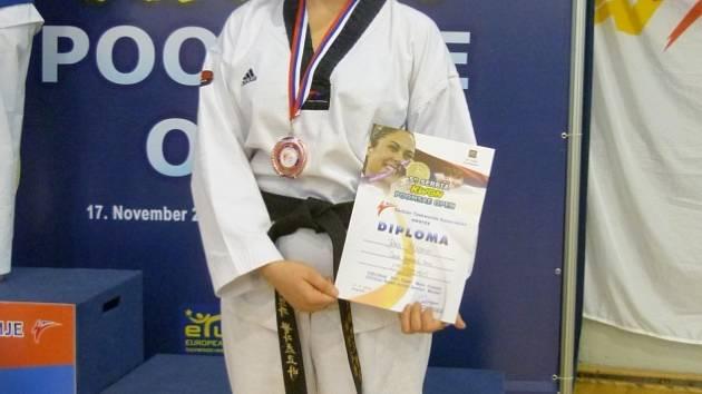 Jitka Poláčková získala v Srbsku bronzovou medaili.