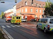 Dopravní nehoda v Ovčárecké ulici naproti 6. Základní škole v Kolíně.