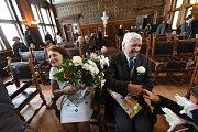 Mažoretky Srdíčko tančily ke smaragdové svatbě zakladatelky Srdíčka.