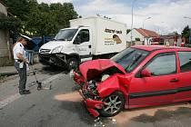 Dopravní nehoda ve Velkém Oseku. 11.6. 2009
