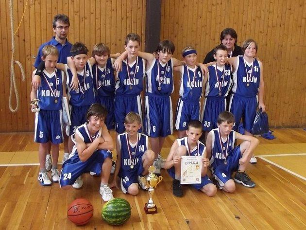 Kolínští minižáci skončili na silně obsazeném turnaji v Brandýse na solidním třetím místě.