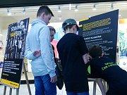 Výstava k projektu 'Stavíme vám sen' v nákupním centru Futurum v Kolíně.
