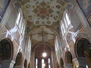 Fresková výzdoba v bazilice Nanebevzetí Panny Marie v Gruntě.
