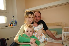 Růžena Jirušová s René Sekaninou a dětmi