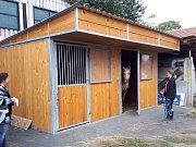 Jezdecký klub v Kolíně pořídil boxy na dočasné ustájení koní.
