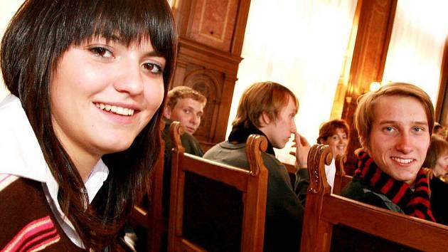 Ze setkání českých a německých studentů v Kolíně.