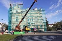 Rekonstrukce budovy radnice v Českém Brodě.