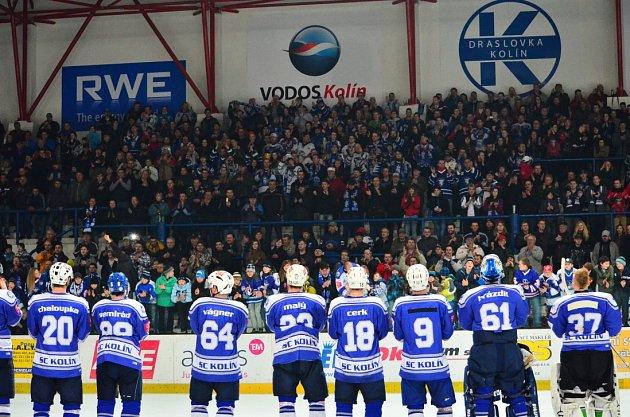 Z utkání druholigového play off, Kolín - Nymburk (6:3)