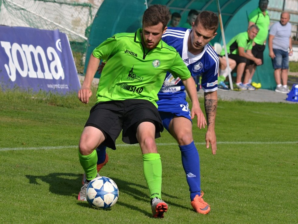 Z utkání Most - Kolín (1:3).