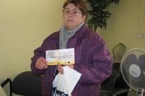 Vítězka 13. kola Jitka Miškovská z Kolína si z redakce odnesla speciální tričko a volný sázkový tiket do Fortuny v hodnotě 100 korun.